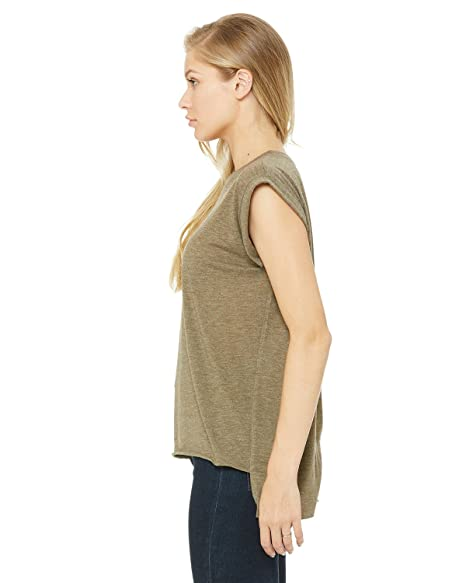 41c9f41c Bella + Canvas Women's Flowy Muscle Tee with Rolled Cuff: Amazon.ca: Home &  Kitchen