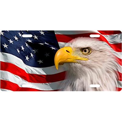 American Patriotic Eagle License Plate Novelty Tag from Redeye Laserworks: Automotive