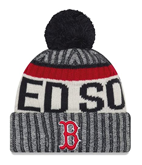 0df525c07 Amazon.com : New Era Boston Red Sox MLB NE17 Sport Knit Hat with Pom :  Clothing