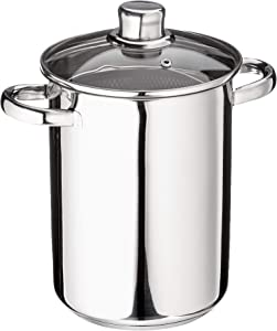 ELO Stainless Steel 4.8-Quart Asparagus Party Pot with Steamer Basket, Induction Ready