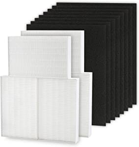 Cabiclean HEPA Filter Replacement R 6 Pack, Including 8 Precut Activated Carbon Pre-Filters for HPA300 Compatible with Honeywell Air Purifier 300 and Filter R