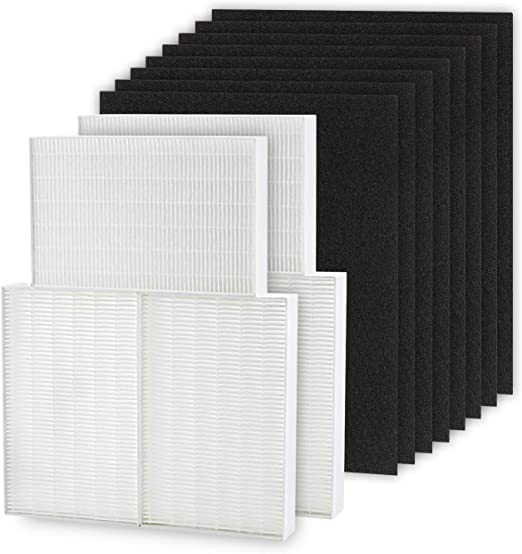 4 Precut Carbon Filters Value Pack For Honeywell HPA300
