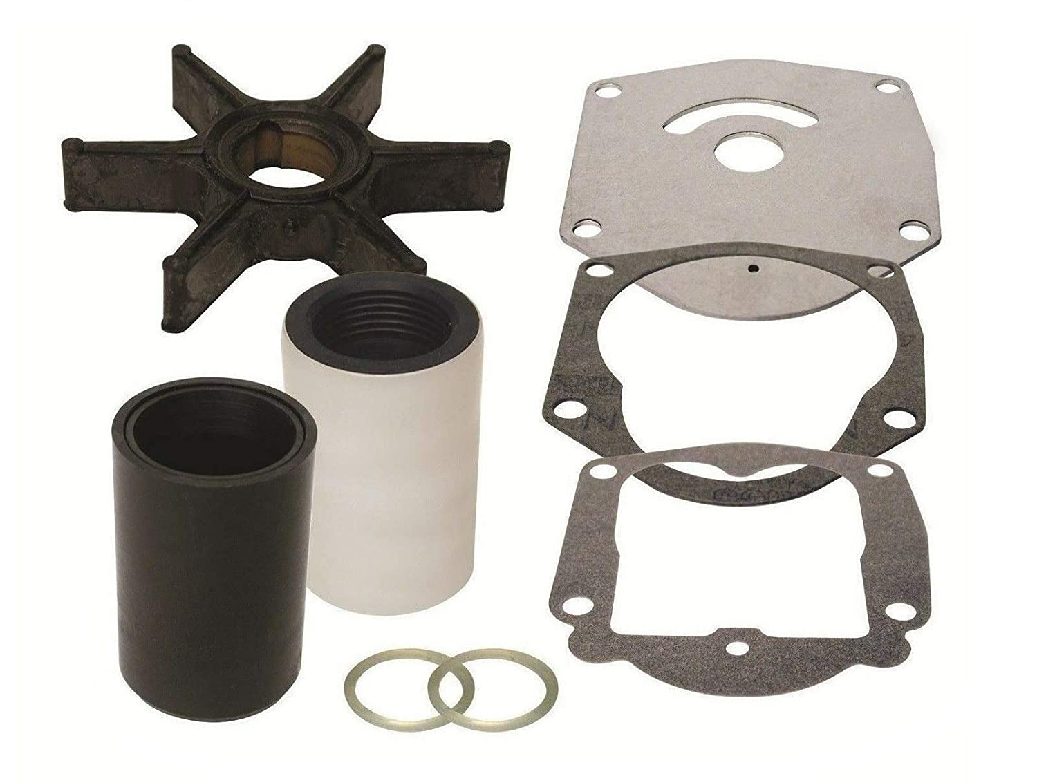 GLM Water Pump Impeller Service Kit for Mercury 4 Stroke 25 30 40 45 50 Hp  Replaces 821354A2 Read Product Description for Exact Applications
