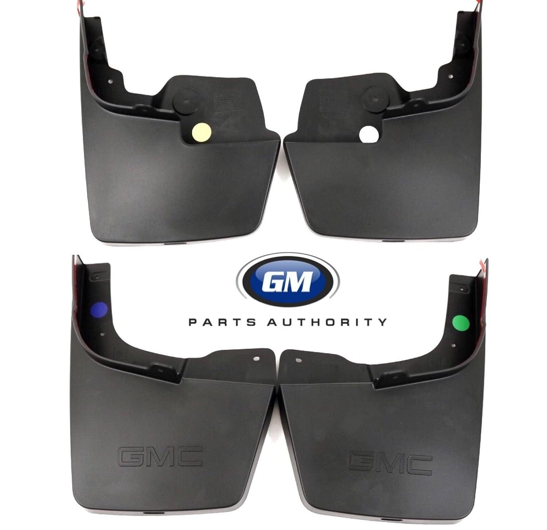 General Motors 2015-2018 GMC Canyon Molded Splash Guard Package 22958431 23278170 Black OEM GM