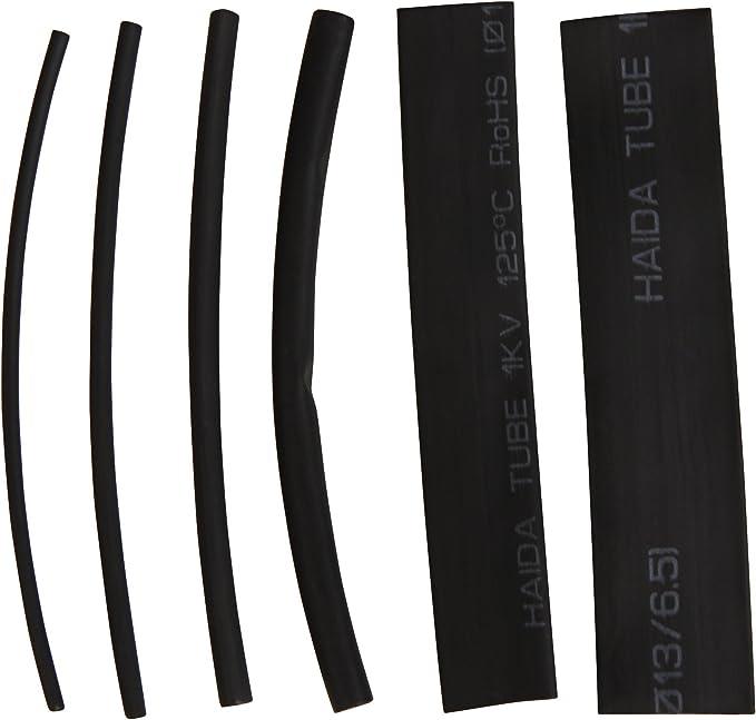 100/Piezas 10/cm de Longitud Negro McPower Juego de Tubos termorretr/áctiles