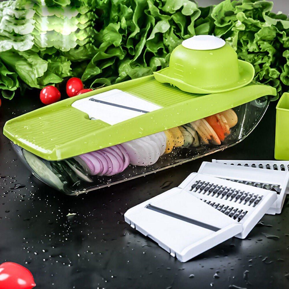 Mandolin Slicer Shule Vegetable Slicer with 5 Interchangeable Stainless Steel Blades–Food Slicer-Vegetable Cutter and Slicer-Cheese Slicer& Other Accessories