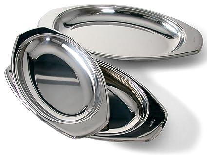Pinti Inox Bandeja gratinar, diámetro 50 x 27 cm