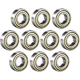 uxcell 6003ZZ Ball Bearing 17mm x 35mm x 10mm Double Shielded 6003-2Z 80103 Deep Groove Bearings High Carbon Steel Z1 (Pack o