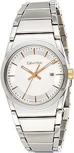 Calvin Klein K6K33B46 Womens Quartz Watch, Analog Display and Stainless Steel Strap - Silver