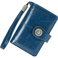 Cartera Mujer Mediana Bloqueo RFID Billeteras Mujer Piel Autentica con Cremallera, Gran Capacidad Billetera Monedero…