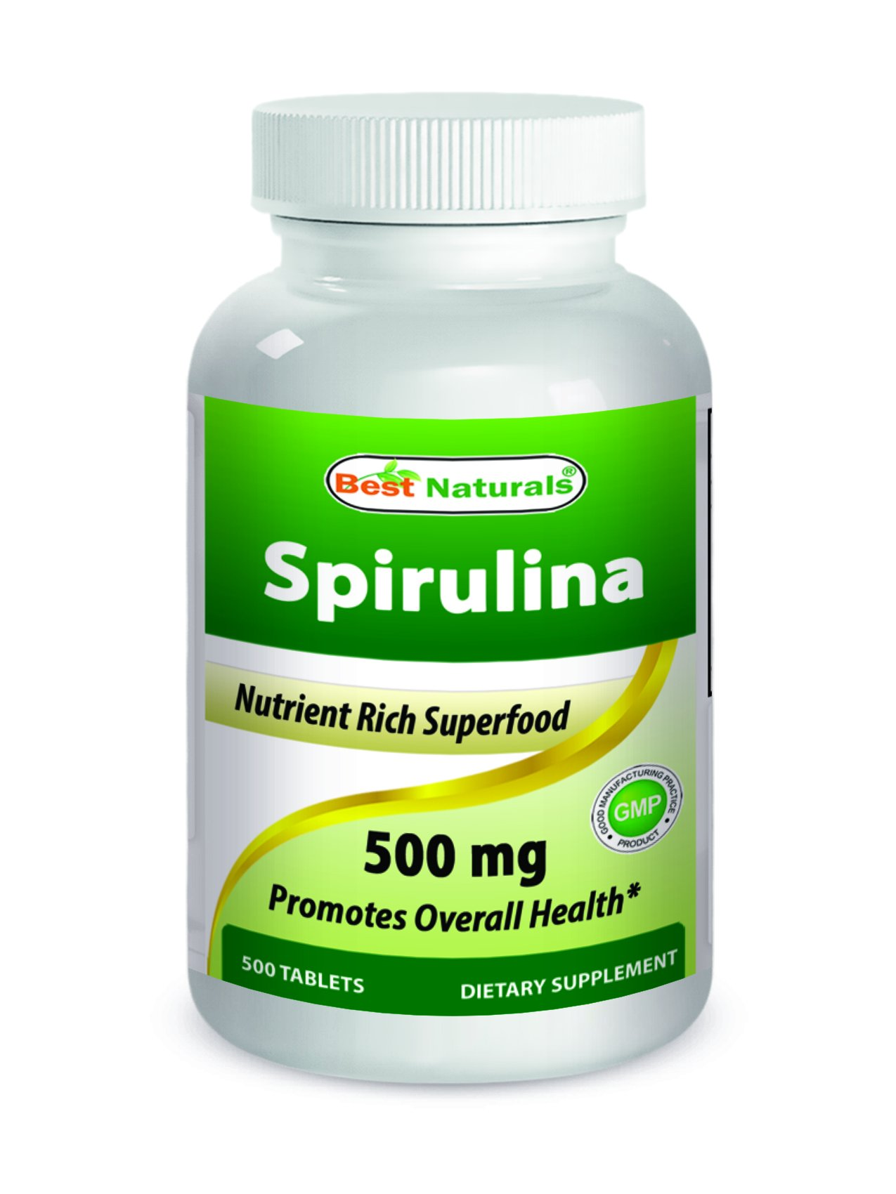 Best Naturals Spirulina 500 mg 500 Tablets