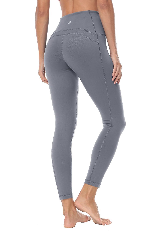 f39bfaa7583 Queenie Ke Women Yoga Leggings Ninth Pants Power Flex High Waist Gym Running  Tights Size S Color Dark Grey  Amazon.ca  Clothing   Accessories