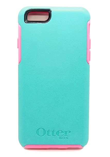 watch a80cc 64c43 OtterBox SYMMETRY SERIES Case for iPhone 6/iPhone 6s - Retail Packaging -  TEAL ROSE II (LIGHT TEAL/BLAZE PINK)