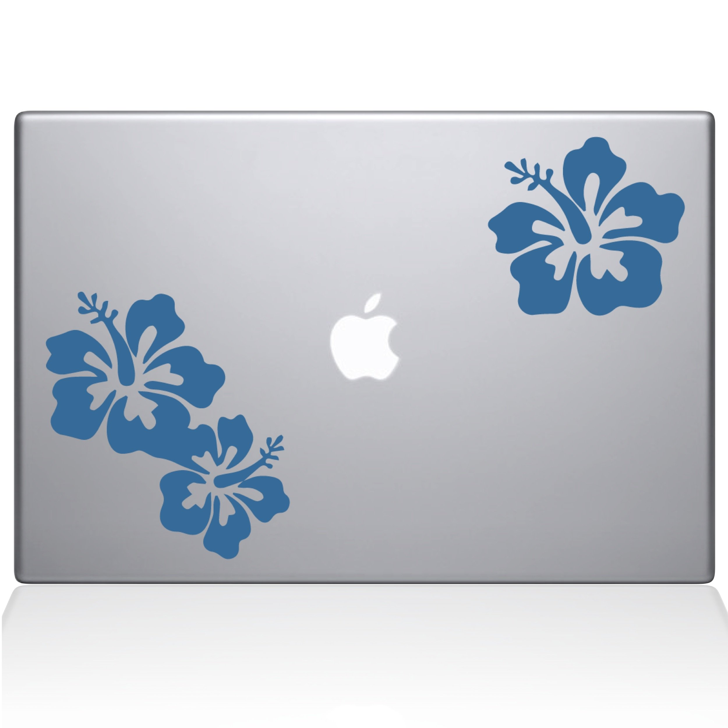 The Decal Guru Hibiscus Decal Vinyl Sticker, 15'' MacBook Pro (2015 & Older Models), Light Blue (1456-MAC-15P-LB)