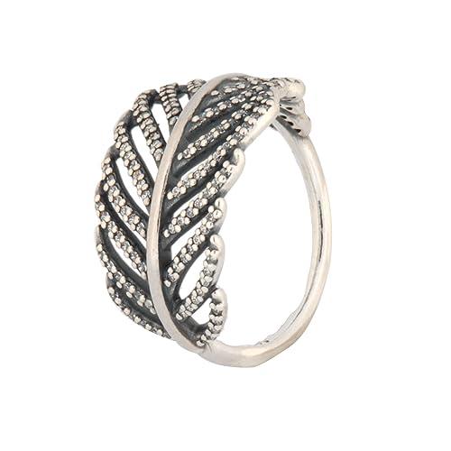 anello pandora con piuma