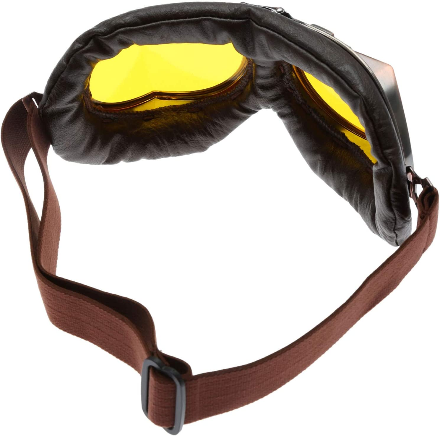 Protection UV Hpybest Lunettes de moto Style vintage Cuivre