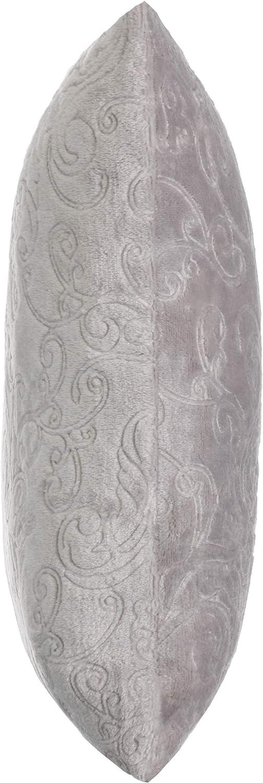 Brandsseller Paisley Coussin d/écoratif en Flanelle 40 x 40 cm Polyester Bleu Clair mit F/üllung 40 x 40 cm
