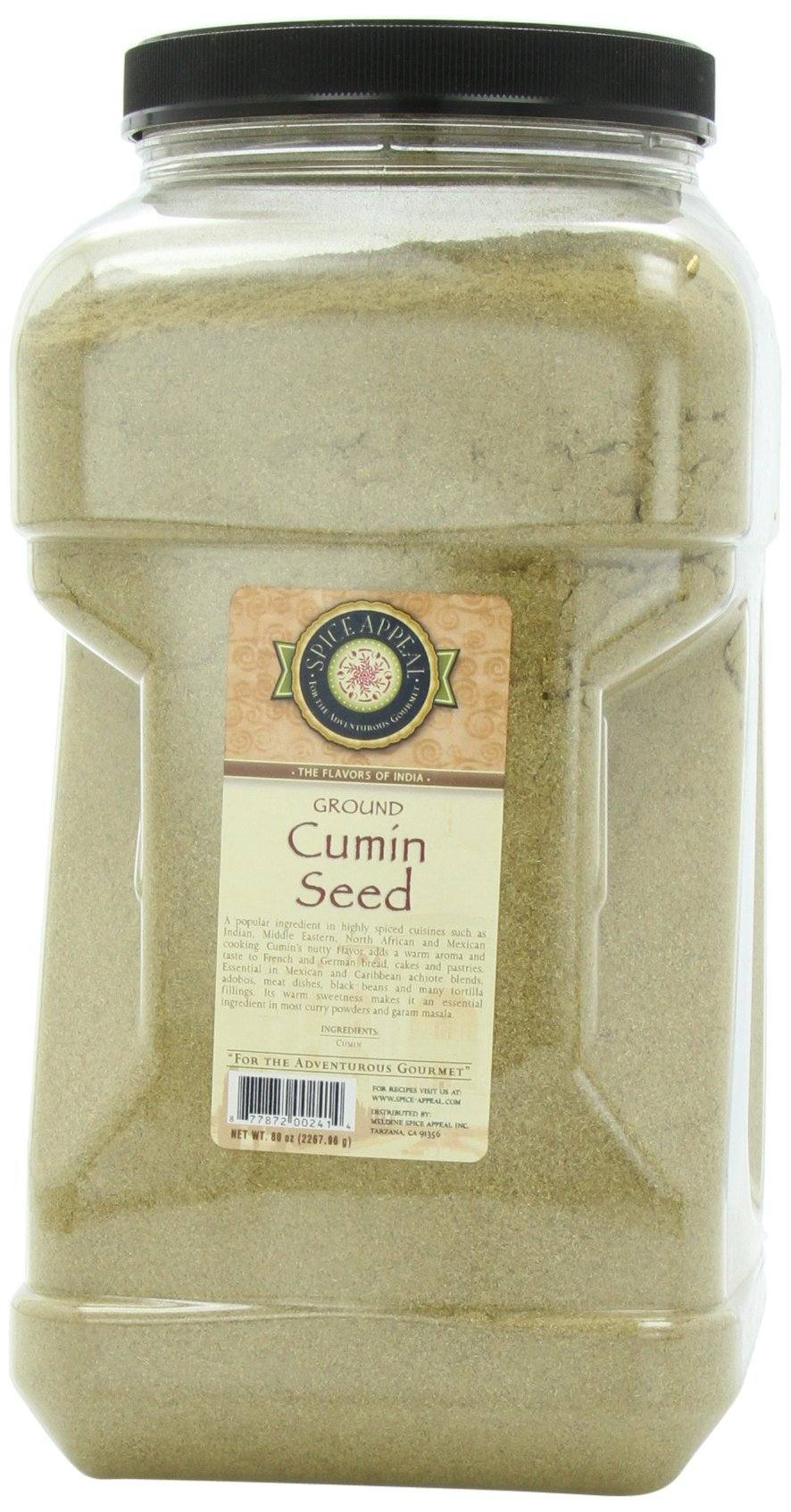 Spice Appeal Cumin Seed Ground, 5 lbs