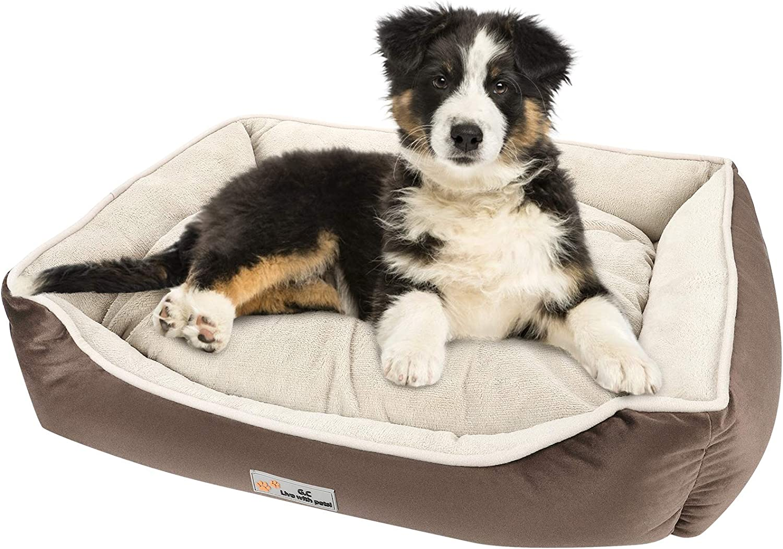 G.C Cama Ortopedica para Perros Grandes, Perro Antiestres Relajante Suave Lavable Desenfundable Cueva Colchonetas Liners para Mediano Pequeños Gatos Mascota
