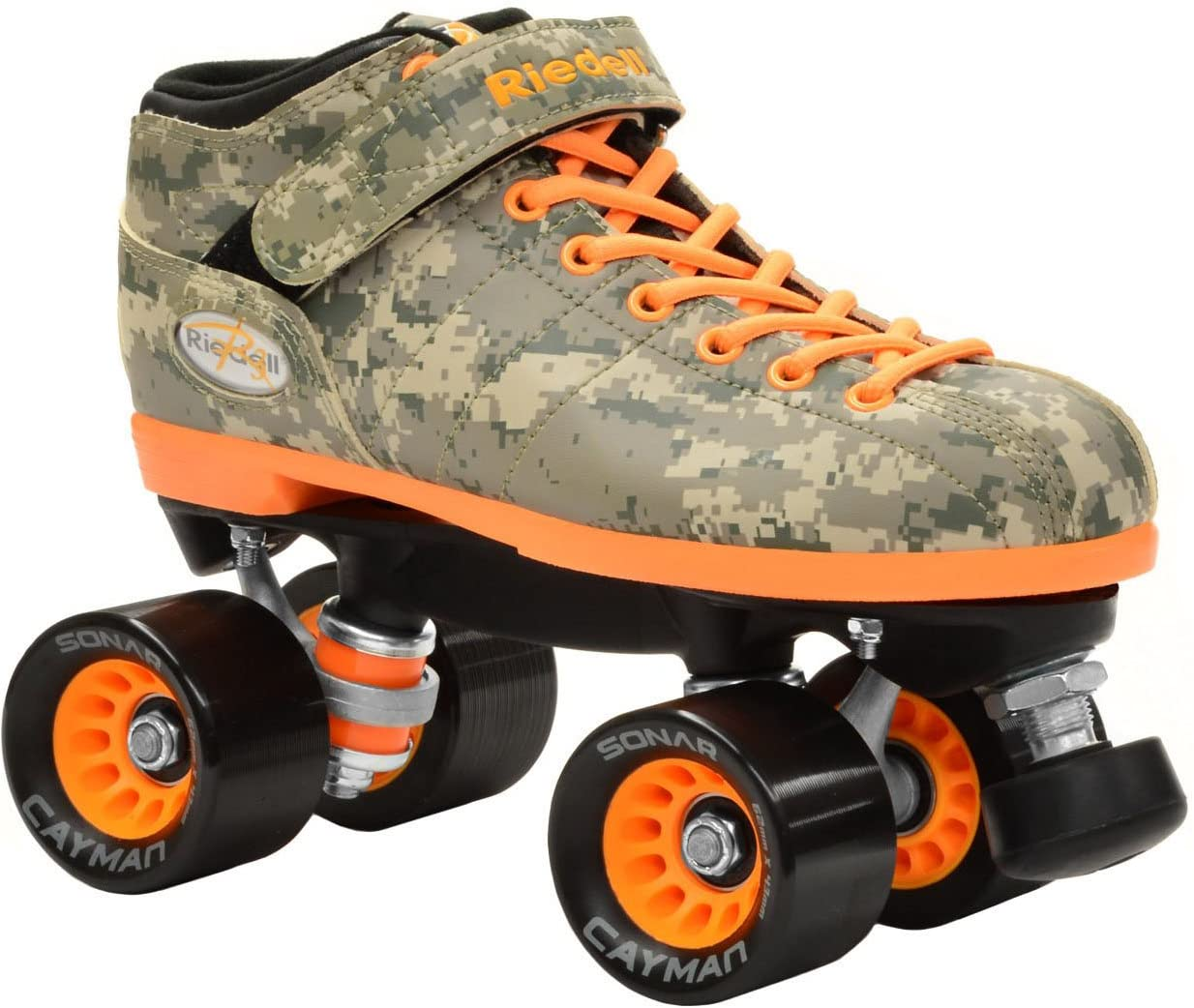 Riedell New R3 Digital Camo Quad Roller Derby Speed Skates Kids 3