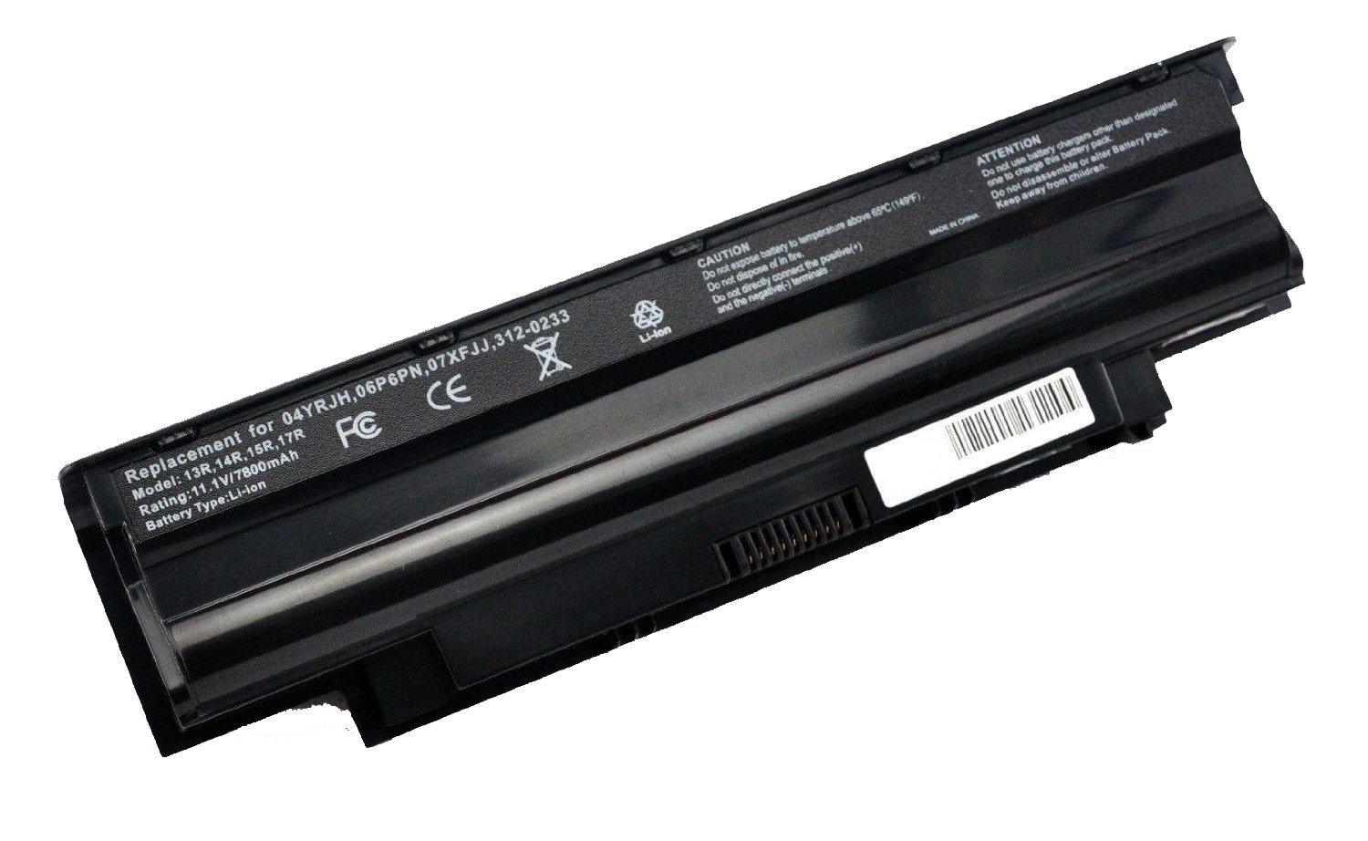 SOLICE® 11.1V 7800mAh Battery for Dell Inspiron 3420 3520 13R 14R 15R 17R N3010 N4010 N4110 N5010 N5110 N7110,fit P/N: 4T7JN 04YRJH 07XFJJ 312-0233