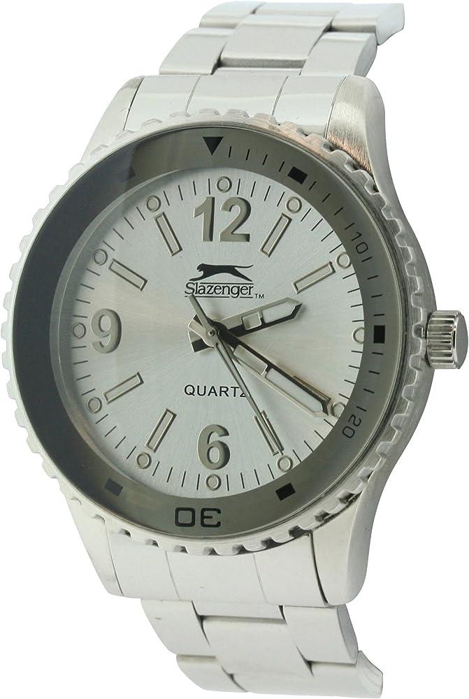 SLAZENGER SLZ63/A - Reloj de Pulsera Hombre, Color Plateado: Amazon.es: Relojes