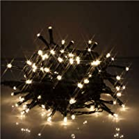JnDee™ Waterproof Fairy Lights 32M 300 LED WARM WHITE Colour with 8 Light Effects Functions, for Both Indoor and Outdoor Christmas Tree Wedding Parties Decoration 31V Safe Voltage