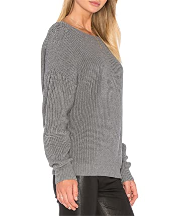 7105991682 Ivan Johns 2018 Spring Pullover Female Knitted Tops Sexy Backless Knitted  Sweater Women Oversized Winter Knitwear