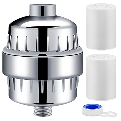 a150ad27aa8b9 Aqua Homliss 10-Stage Shower Filter with 2 Cartridges - Universal Head  Purifier Also Adds Vitamin C for Skin and Hair Health, Showerhead Filter  High ...