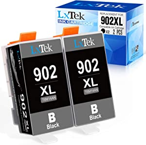 LxTek Compatible Ink Cartridge Replacement for HP 902XL 902 XL to use with Officejet Pro 6968 6970 6978 6960 6971 6974 6975; OfficeJet 6950 6954 6951 6961 6956 6958 6966 Printers (Black, 2 Pack)