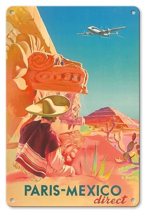 Pacifica Island Art 8x12 Cartel de Chapa Vintage-París ...