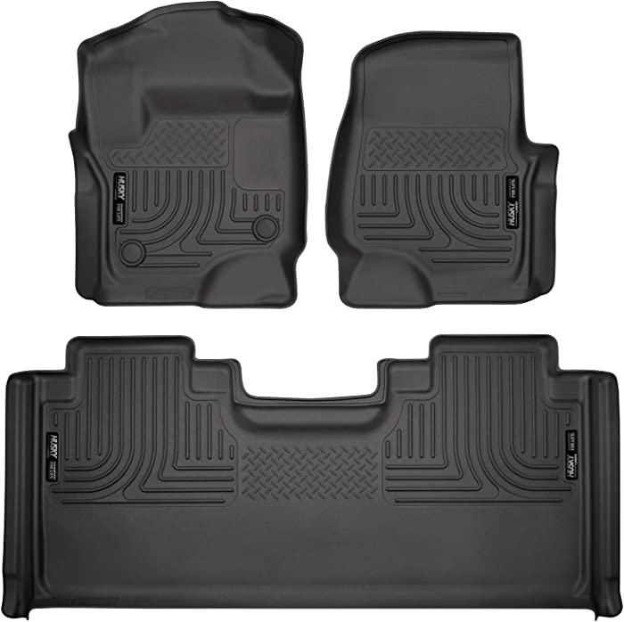 Husky Liners Fits 2017-20 Ford F-250/F-350 SuperCab Weatherbeater Front & 2nd Seat Floor Mats
