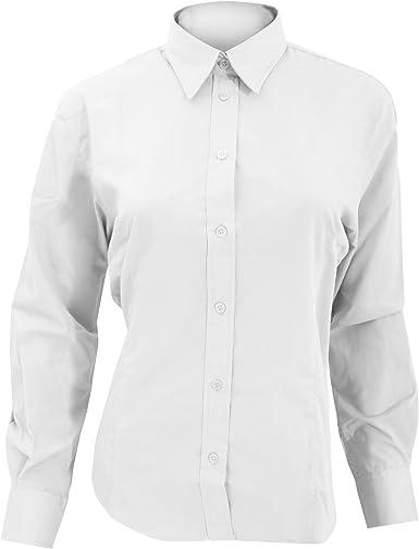 KUSTOM KIT- Camisa de Trabajo de Manga Larga para Mujer: Amazon.es: Ropa y accesorios