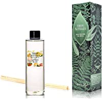 Urban Naturals Citrus Bliss Mandarin & Grapefruit Scented Reed Diffuser Oil Refill + Replacement Reed Sticks | Fresh, Bright Citrus Scent 4 oz.