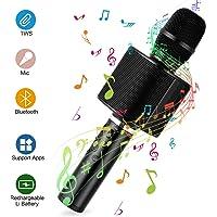 Micrófono Karaoke Bluetooth, Mbuynow TWS Micrófono Inalámbrico