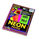 Pacon Neon Bond Paper, 8 1/2-Inchx11-Inch, Assorted Five Colors, 100-Sheet