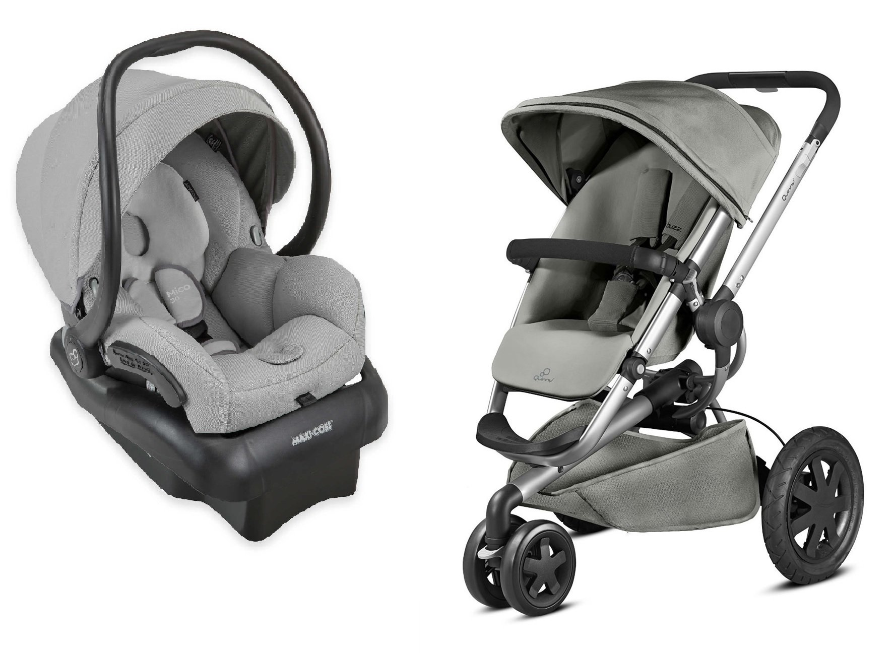 Quinny 2015 Buzz Xtra 2.0 Stroller with Maxi-Cosi Mico 30 Infant Car Seat, Grey