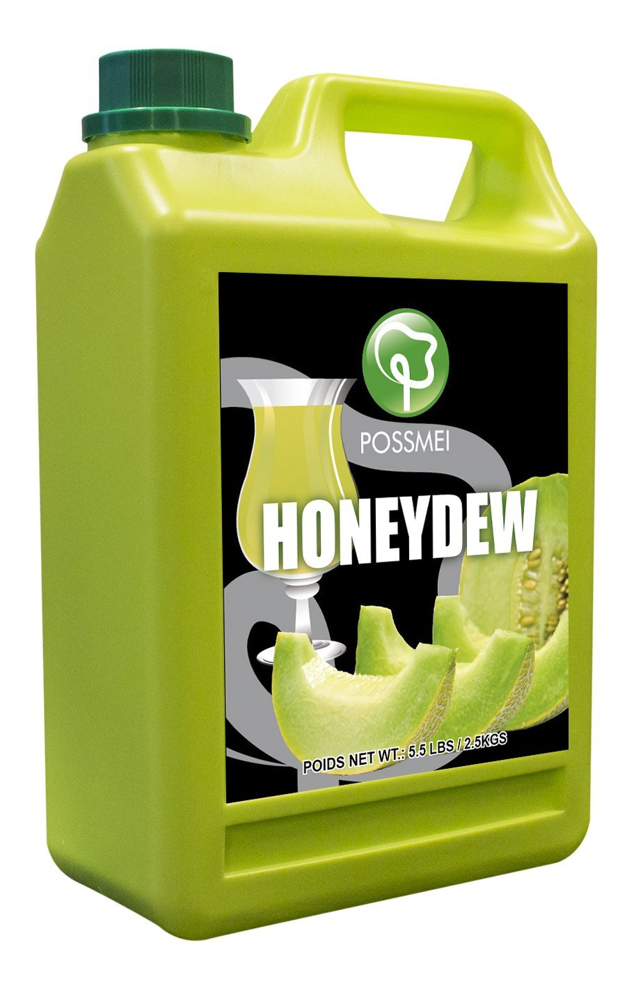 Possmei Flavored Syrup, Honeydew, 5.5 Pound