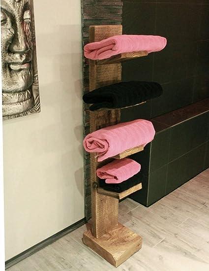 Toalla Escalera independiente 4 estantes de madera maciza