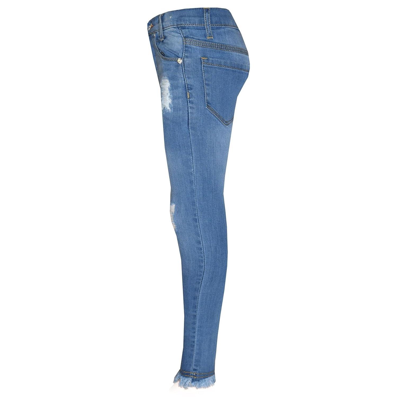 a88dac4fac1 A2Z 4 Kids® Girls Skinny Jeans Kids Designers Denim Ripped Stretchy Rough Pants  Fashion Frayed