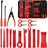 FXWSKY 18Pcs Auto Trim Removal Tool Kit, Auto Upholstery Tools Fastener Remover Car Panel Removal Trim Clip Plier Set…