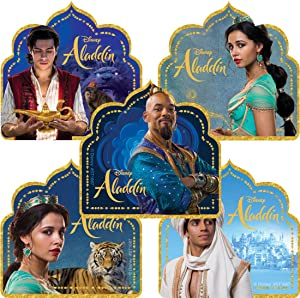 Aladdin Shaped Stickers - Toys 100 per Pack