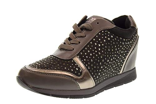 XTI Zapatos Mujer Zapatillas con cuña 48513 Gris: Amazon.es: Zapatos y complementos