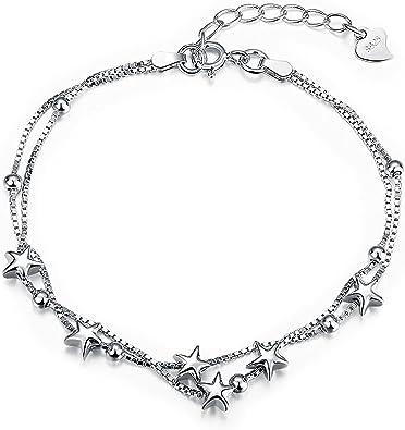 Sterling Silver Star Charm Bangle