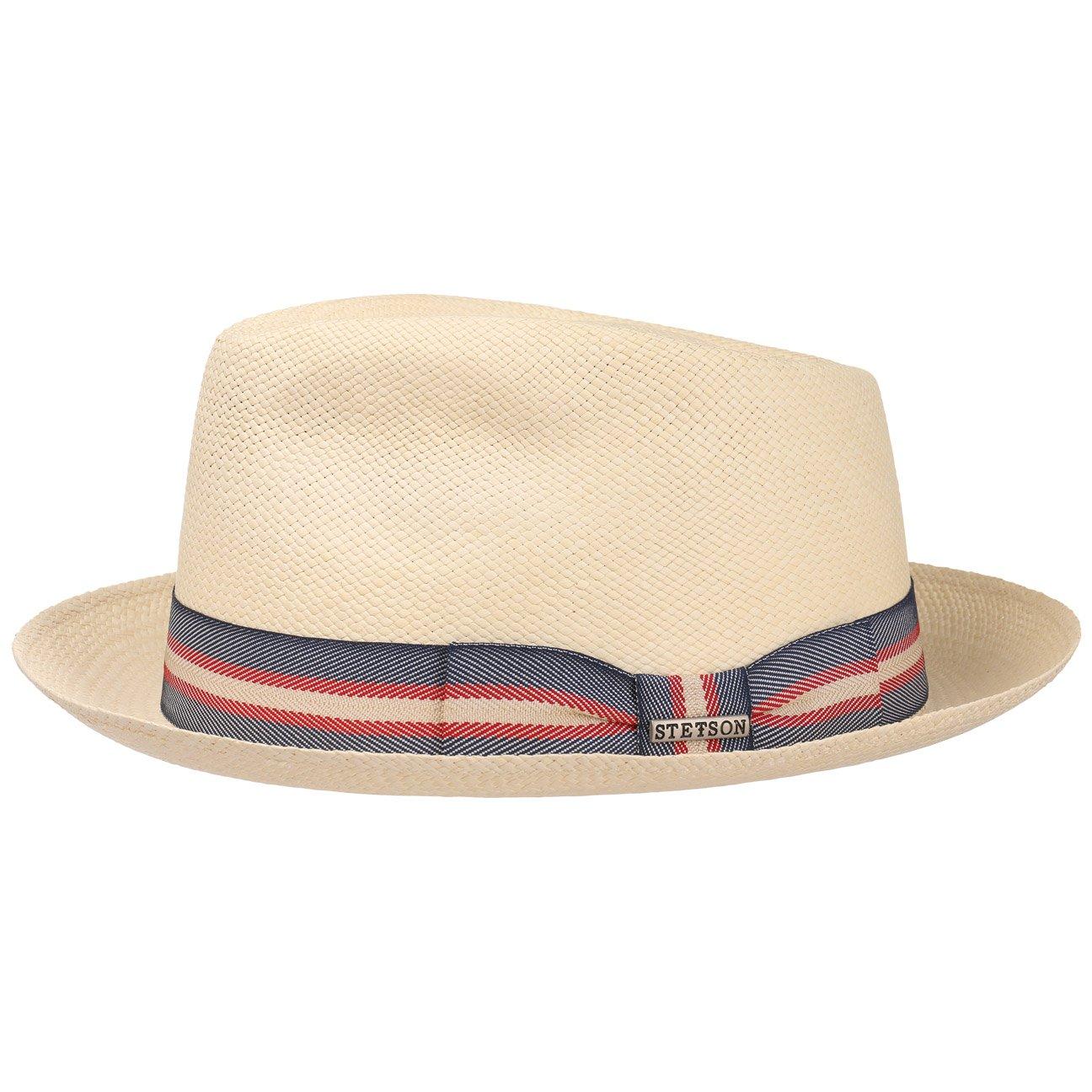 Made in Ecuador da Sole Estivo Cappelli Spiaggia con Nastro Grosgrain Grosgrain Primavera//Estate Stetson Cappello di Paglia Ocate Panama Uomo