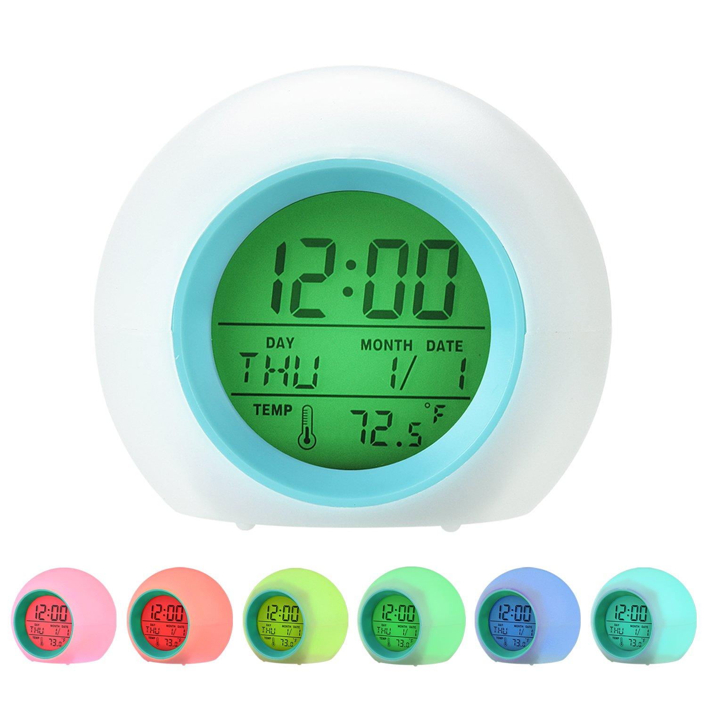 Tageslicht Wecker Kleinkinder Nachtlicht LED Licht Erwachsene 7 Farben-modus 5 nat/ürliche Kl/änge f/ür Kinder Wecker Jugendliche Datumsanzeige Wecker mit Temperaturanzeige Wake Up Licht