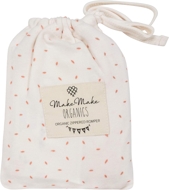 MakeMake Organics Organic Cotton 2-Way Zipper Romper Pajamas Zip Up Sleeper Easy Diaper Change Jammies Sleep Suit Playsuit