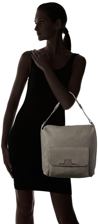 Damen Hobo Bag Schultertaschen, Grau (Antracite 00071), 33x30x17 cm Liu Jo