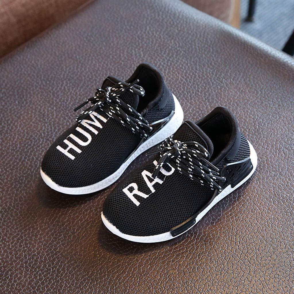 Kids Boys Girls Mesh Running Walking Sneaker Shoe Polwer Baby Breathable Shoes