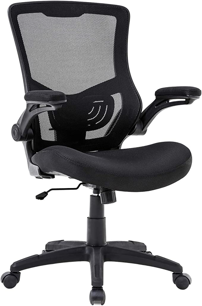 YarStore Ergonomic Desk Chair With Adjustable Armrest And Lumbar Support